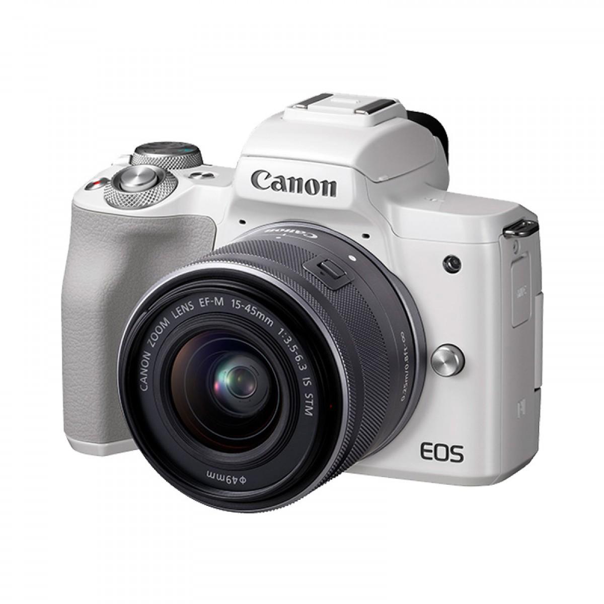 Canon/佳能eosM50 15-45套机数码男女学生入门级官方微单相机m50旅游vlog高清短视频自拍