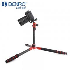 百诺新品MC19 碳纤维单反三脚架 相机三角架支架摄影便携套装包邮