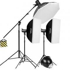 神牛SK300w+SK400w二代摄影灯 闪光灯影室摄影棚补光灯柔光灯套装