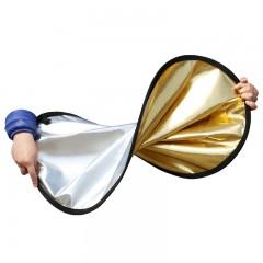 雁牌摄影反光板 80CM金银双面二合一折叠便携摄影棚灯箱补光配件器材