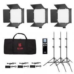 金贝LED摄影灯EFP-50BI视频摄像灯影视直播采访微电影课程录制演播室拍摄补光灯外拍灯