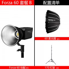 南冠nanlite南光forza60w摄影灯聚光灯影视摄像灯柔光便携外拍led补光灯 Forza 60W标配