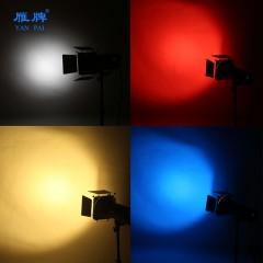 雁牌大蜂巢四叶挡光板闪光灯轮廓光滤色片蜂窝摄影棚四页挡板附件