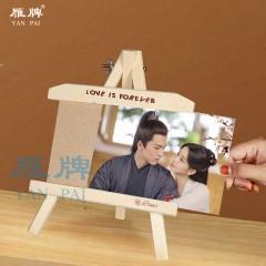 雁牌实木相框7寸10寸儿童影楼婚纱创意摆台礼物立体原木质画架个性礼品