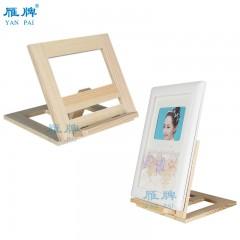 雁牌影楼相册摆台托架折叠台式实木支架摆放相框支架木质小支架