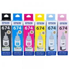 爱普生T674墨水黑彩6色喷墨连供 L801 L805 L810 L850 L1800 墨水