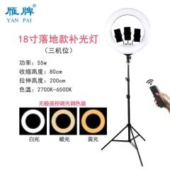 雁牌LED21寸三机位直播补光摄影灯56cm大光圈主播专用美颜环形灯
