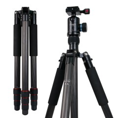 富图宝碳纤维三角架X-6C 单反相机旅行摄影便携三脚架云台套装