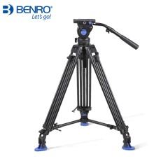 百诺BENRO BV系列BV4专业摄像液压脚架套装 分级动平衡 可调阻尼