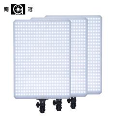 南冠LED淘宝摄影棚套装摄像补光灯人像拍摄照相柔光灯T504三灯装