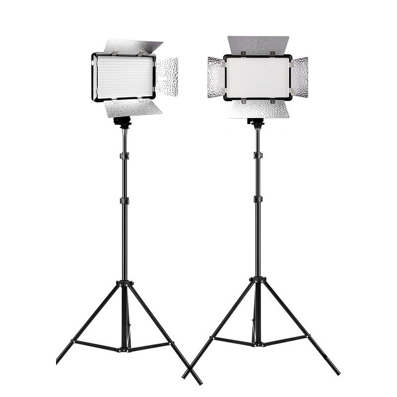 神牛摄像灯套装LED308C二代 两灯套装摄影补光灯直播间微电影主播