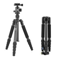 思锐T1205+G10KX 三脚架 单反相机微单旅行便携 碳纤维三角架云台