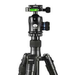 思锐N2004+K20X三脚架单反照相机三角架云台套装 反折可作独脚架