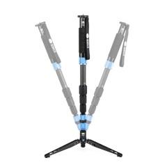 思锐独脚架 P324SR+VH10 单反相机摄影摄像 便携碳纤维单角架支架